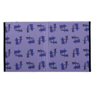 Abstract Pattern blues iPad Folio Covers
