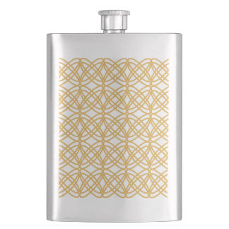 Abstract  pattern - bronze and white. flask