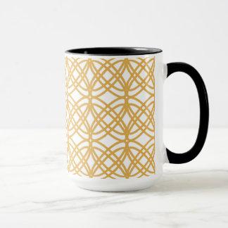 Abstract pattern - bronze and white. mug
