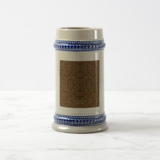 Abstract Pattern brown 18 Oz Beer Stein