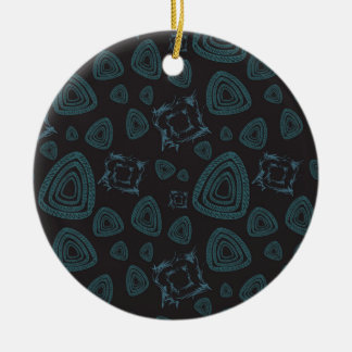 Abstract pattern ceramic ornament