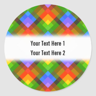 Abstract Pattern. Classic Round Sticker