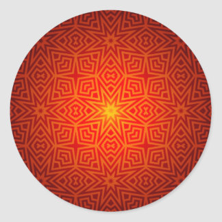 Abstract Pattern Classic Round Sticker