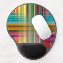 Abstract Pattern Colorful Background Gel Mouse Pad