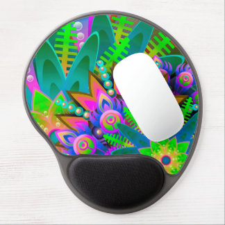 Abstract Pattern Colorful Floral Gel Mouse Pad