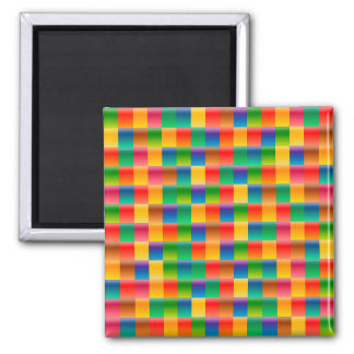 Abstract Pattern Colorful Square Background Magnet
