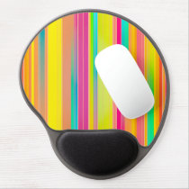 Abstract Pattern Colorful Stripes Background Gel Mouse Pad