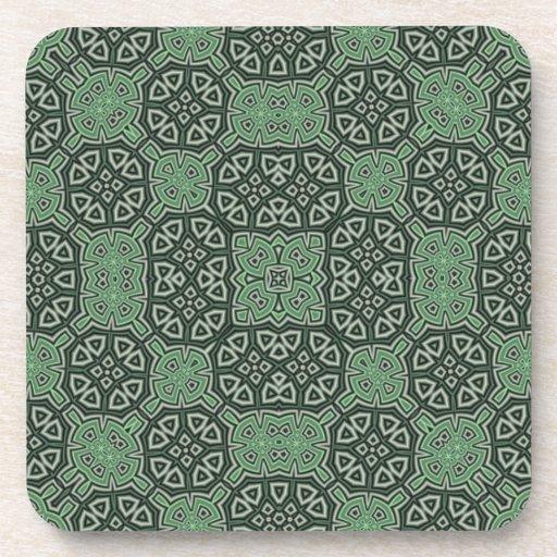 Abstract Pattern Cork Coaster