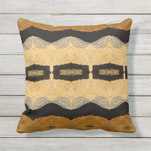 Black And Cream Abstract Pillows Decorative Throw Pillows Zazzle