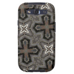 Abstract Pattern cross & star Galaxy S3 Cover