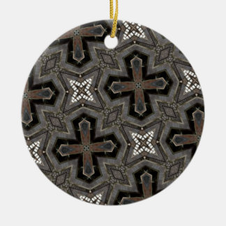 Abstract Pattern cross & star Ornaments