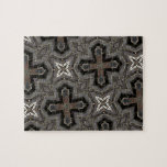 Abstract Pattern cross & star Puzzle