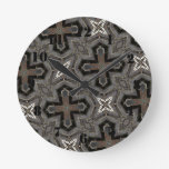 Abstract Pattern cross & star Wall Clock