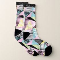 Abstract Pattern custom name socks