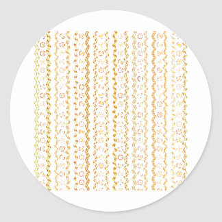 Abstract Pattern Design Classic Round Sticker