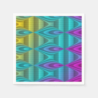 Abstract Pattern Design colored + your ideas Standard Cocktail Napkin