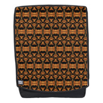 Abstract Pattern Dividers 02 Brown Black Backpack