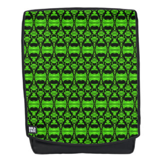Abstract Pattern Dividers 02 Green Black Backpack