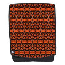 Abstract Pattern Dividers 02 Orange Black Backpack