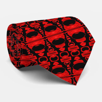 Abstract Pattern Dividers 02 Red and Black Tie