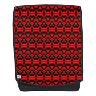 Abstract Pattern Dividers 02 Red Black Backpack