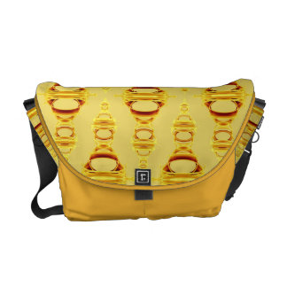 Abstract Pattern Dividers 03 Golden Yellow Courier Bag