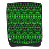 Abstract Pattern Dividers 07 Green Black Backpack