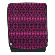 Abstract Pattern Dividers 07 Pink over Black Backpack