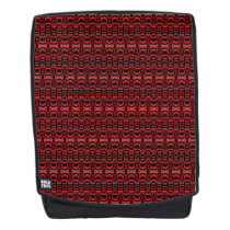 Abstract Pattern Dividers 07 Red over Black Backpack