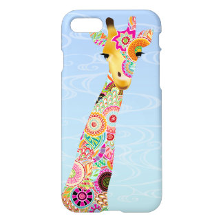 Abstract Pattern Filled Giraffe Savvy iPhone 7 iPhone 7 Case