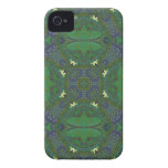 Abstract Pattern green and blue iPhone 4 Case-Mate Cases