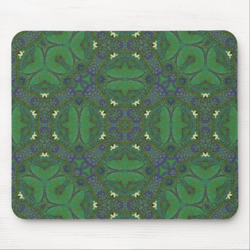 Abstract Pattern green and blue Mouse Pads