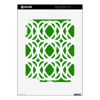 Abstract pattern - green and white. decal for the iPad 2