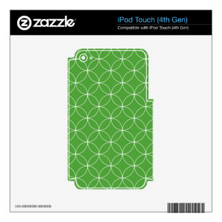 Abstract pattern - green and white. iPod touch 4G decal