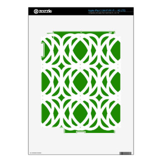 Abstract pattern - green and white. skins for iPad 3
