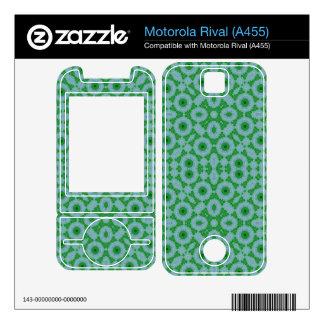 Abstract Pattern Green Blue Motorola Rival Skins