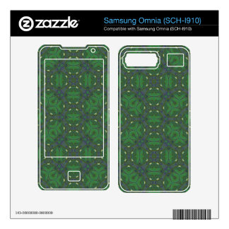 Abstract Pattern green blue Samsung Omnia Decals