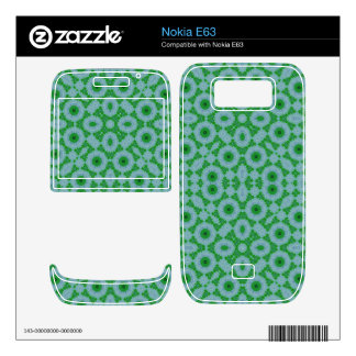 Abstract Pattern Green Blue Nokia E63 Decals