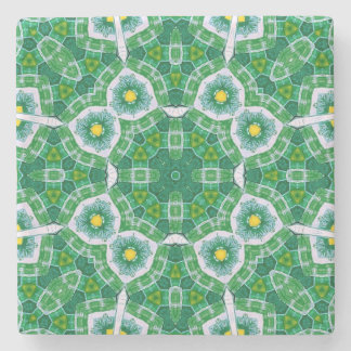 Abstract Pattern Green blue Stone Coaster