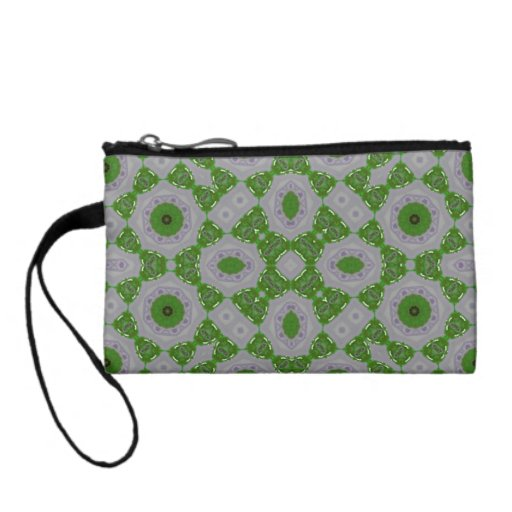 Abstract Pattern Green Change Purse