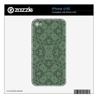 Abstract Pattern Green Decals For The iPhone 4S