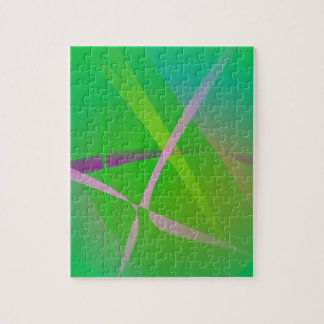 Abstract Pattern Green Grass Jigsaw Puzzles
