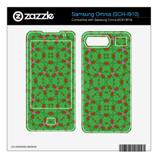 Abstract Pattern Green pink Samsung Omnia Decals