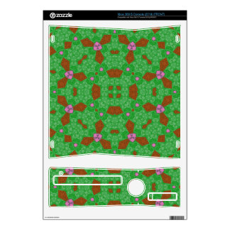 Abstract Pattern Green pink Xbox 360 S Skin