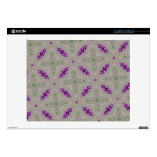 Abstract Pattern green purple Decals For Laptops