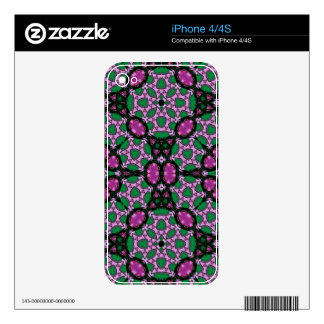 Abstract Pattern  green purple iPhone 4 Decals
