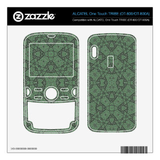 Abstract Pattern Green ALCATEL Tribe Skins