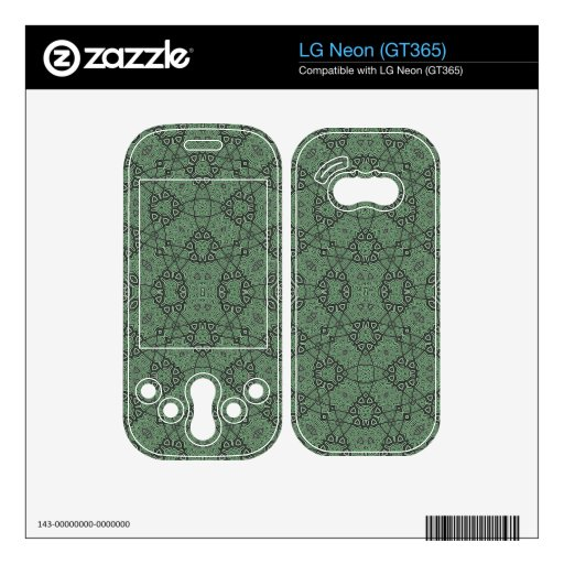 Abstract Pattern Green Skins For The LG Neon