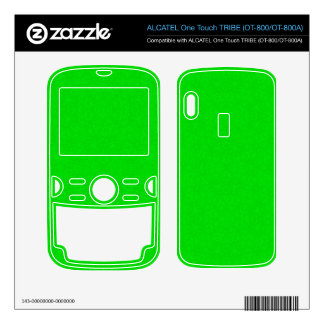 Abstract Pattern Green ALCATEL Tribe Skin