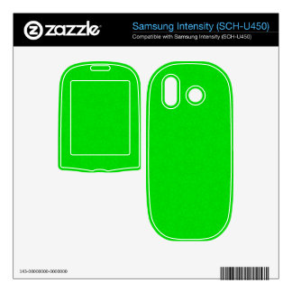 Abstract Pattern Green Samsung Intensity II Skin